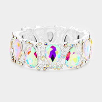 Marquise Teardrop Glass Crystal Stretch Bracelet