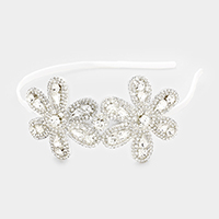 Pave Crystal Double Flower Headband