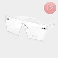 12 PCS - Oversized Frameless Square Sunglasses