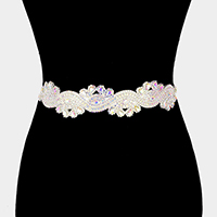 Wavy Stone Sash Ribbon Bridal Wedding Belt