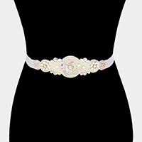 Stone Sash Ribbon Bridal Wedding Belt