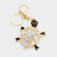 Crystal Legs Move Turtle Key Chain