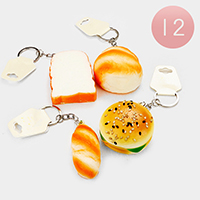 12PCS - Bread Stress Reliever Fun Squishies Key Chain