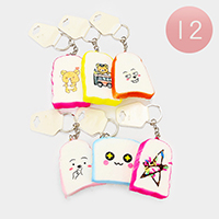 12PCS - Bread Stress Reliever Fun Squishies Key Chains