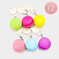 12PCS - Macaroon Stress Reliever Fun Squishies Key Chain