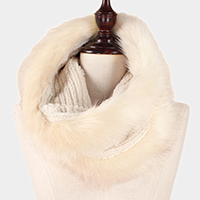 Soft Mixed Fur Tube Scarf