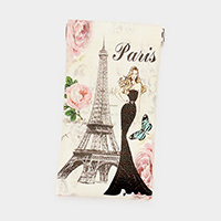Faux Leather Paris Eiffel Tower Print EyeGlass Case