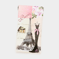 Faux Leather Paris Eiffel Tower Dress Print EyeGlass Case