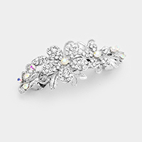 Pave Crystal Double Flowers Barrette