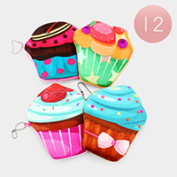 12PCS - Cupcake Coin Zipper Purses