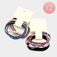 12PCS - Double Layers Hair Bands