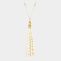 Freshwater Pearl Tassel Long Necklace