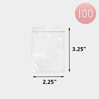 100PCS - Clear Plastic Zipper Jewelry Bags