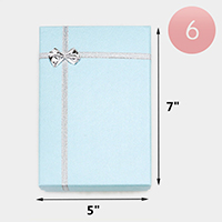 6PCS - Simple Bow Deco Rectangle Gift Boxes