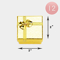 12PCS - Simple Bow Deco Square Gift Boxes