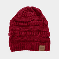 Soft Cable Knit Beanie