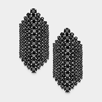 Marquise Bubble Cluster Vine Evening Earrings