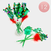 12 PCS - Christmas Tree Ball Point Pens
