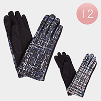 12Pairs - Woolen Stitching Touch Gloves