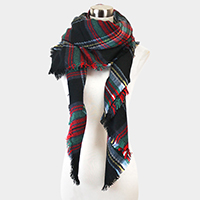 Classic Plaid Check Pattern Blanket Scarf