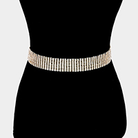 Pave Crystal Rhinestone Chain Belt