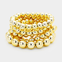 5Layers Metal Ball Stretch Bracelet
