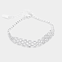 Pave Crystal Rhinestone Evening Bracelet