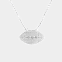 Metal Football Pendant Necklace