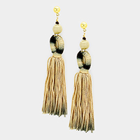 Oversized Ombre Thread Tassel Earrings