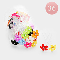 36PCS - Flower Stone Mini Hair Comb Pins