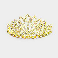 Pave Crystal Rhinestone Mini Princess Tiara