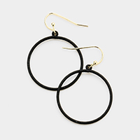 Colored Metal Hoop Earrings