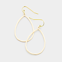 Colored Metal Teardrop Hoop Earrings