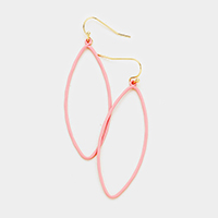 Colored Oval Dangle Earrings