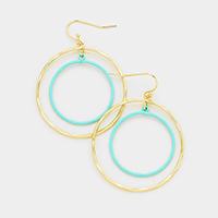 Double Hoop Dangle Earrings