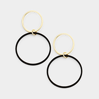 Double Hoop Link Dangle Earrings