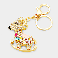 Crystal Pave Rudolph Key Chain