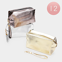 12PCS - Bling Cosmetic Pouches