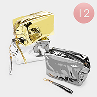 12PCS - Glossy Cosmetic Pouches