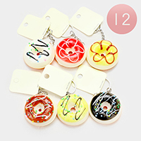 12PCS - Donuts Stress Reliever Fun Squishies Key Chains