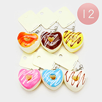 12PCS - Heart Donuts Stress Reliever Fun Squishies Key Chains