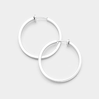 Metal Hoop Clip on Earrings