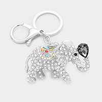 Crystal Pave Elephant Key Chain