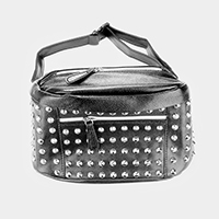 Faux Leather Studded Fanny Pack
