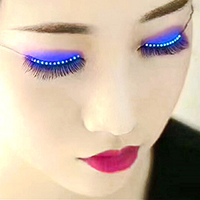 LED Eyelashes Eyelid False Eyelashes