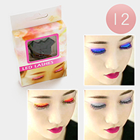 12Pairs - LED Eyelashes Eyelid False Eyelashes