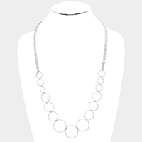 Metal Hoop Link Bib Necklace