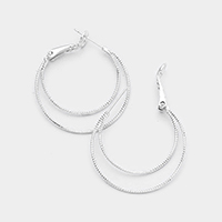 14K Gold Filled Double Metal Hypoallergenic Hoop Earrings
