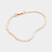 Cubic Zirconia Tennis Evening Bracelet