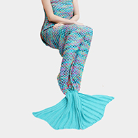 Warmth Crochet Mermaid Tail Knit Blanket
